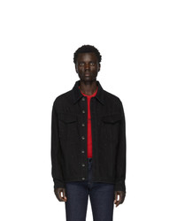 schwarze Jeansjacke von Fendi