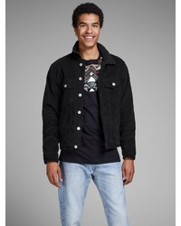 schwarze Jeansjacke von Jack & Jones