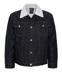 schwarze Jeansjacke von KINGKEROSIN