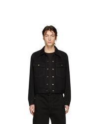 schwarze Jeansjacke von Lemaire