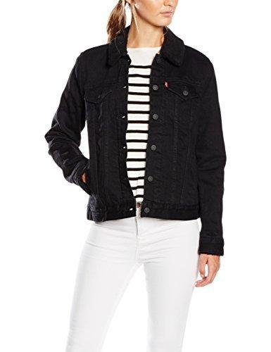Schwarze jeansjacke damen moderne sch ne jacken - Schwarze jeansjacke damen ...