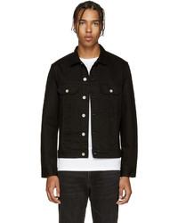 schwarze Jeansjacke von Paul Smith