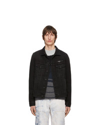 schwarze Shirtjacke aus Jeans von Off-White