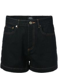 schwarze Jeansshorts von A.P.C.