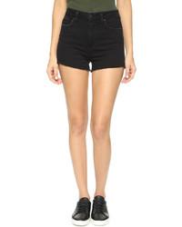 schwarze Jeansshorts von Paige