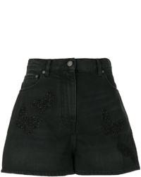schwarze Jeansshorts von Valentino