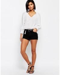 schwarze Jeansshorts von Vero Moda