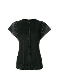schwarze Jeansweste von Rick Owens DRKSHDW
