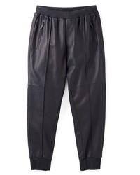 schwarze Jogginghose aus Leder