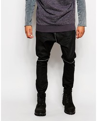 schwarze Jogginghose aus Leder von Asos