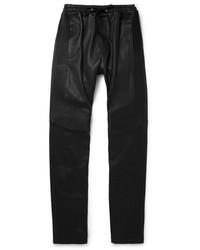 schwarze Jogginghose aus Leder von Balmain