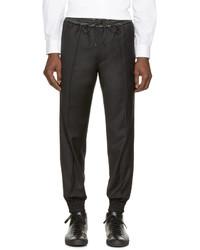 schwarze Jogginghose aus Leder von Juun.J