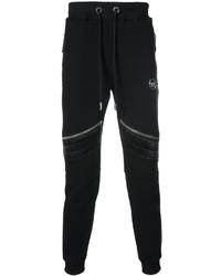 schwarze Jogginghose aus Leder von Philipp Plein