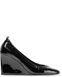 schwarze Keilpumps aus Leder von Lanvin
