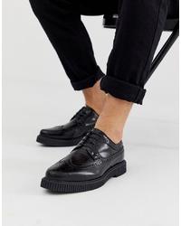 schwarze klobige Leder Brogues von ASOS DESIGN