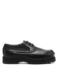 schwarze klobige Leder Derby Schuhe von Acne Studios