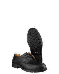 schwarze klobige Leder Derby Schuhe von Amblers Safety