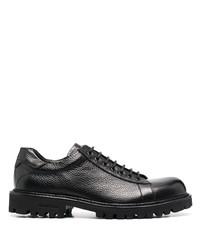 schwarze klobige Leder Derby Schuhe von Baldinini