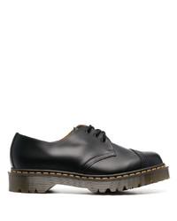 schwarze klobige Leder Derby Schuhe von Comme des Garcons Homme Deux