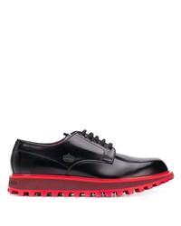 schwarze klobige Leder Derby Schuhe von Dolce & Gabbana