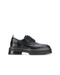 schwarze klobige Leder Derby Schuhe von Eytys