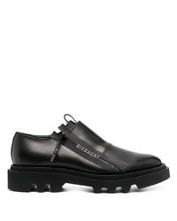 schwarze klobige Leder Derby Schuhe von Givenchy