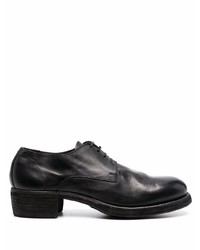 schwarze klobige Leder Derby Schuhe von Guidi
