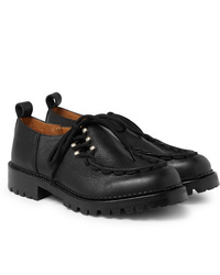 schwarze klobige Leder Derby Schuhe von Hender Scheme