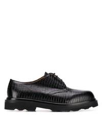 schwarze klobige Leder Derby Schuhe von Marni
