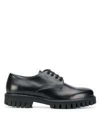 schwarze klobige Leder Derby Schuhe von MSGM
