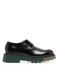 schwarze klobige Leder Derby Schuhe von Off-White