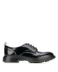 schwarze klobige Leder Derby Schuhe von Pezzol 1951