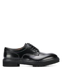 schwarze klobige Leder Derby Schuhe von Premiata