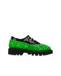 schwarze klobige Leder Derby Schuhe von Rombaut