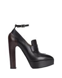 schwarze klobige Leder Pumps von Vera Wang