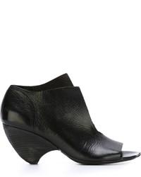 schwarze klobige Leder Sandaletten von Marsèll