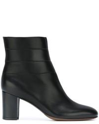 Schwarze klobige Leder Stiefeletten von L'Autre Chose