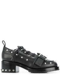 schwarze klobige Lederschnürschuhe von No.21