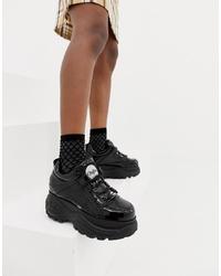 schwarze klobige niedrige Sneakers von Buffalo