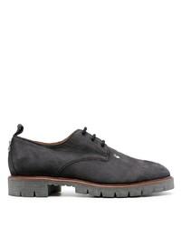 schwarze klobige Wildleder Derby Schuhe von Off-White