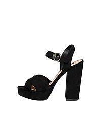 schwarze klobige Wildleder Sandaletten von Only
