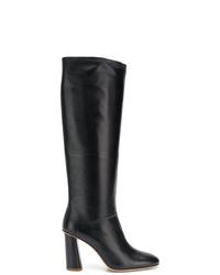 schwarze kniehohe Stiefel aus Leder von Acne Studios