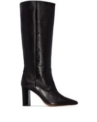 schwarze kniehohe Stiefel aus Leder von Atp Atelier