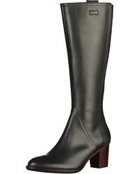 schwarze kniehohe Stiefel aus Leder von Gabor