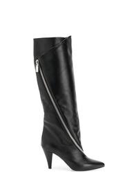 schwarze kniehohe Stiefel aus Leder von Givenchy