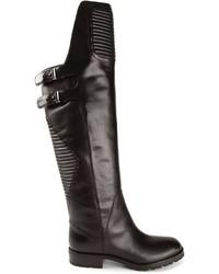 schwarze kniehohe Stiefel aus Leder von Marc by Marc Jacobs