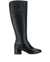schwarze kniehohe Stiefel aus Leder von MICHAEL Michael Kors