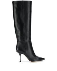 schwarze kniehohe Stiefel aus Leder von Sergio Rossi
