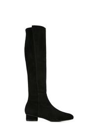 schwarze kniehohe Stiefel aus Wildleder von Stuart Weitzman