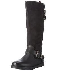 schwarze kniehohe Stiefel von Refresh